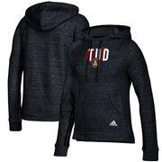 Atlanta United FC adidas Women's Inner Drop Transitional Pullover Hoodie - Heathered Black