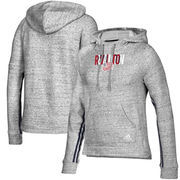 New England Revolution adidas Women's Inner Drop Transitional Pullover Hoodie - Heathered Gray