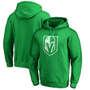 Vegas Golden Knights Fanatics Branded St. Patrick's Day White Logo Pullover Hoodie - Kelly Green