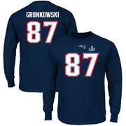 Rob Gronkowski New England Patriots NFL Pro Line by Fanatics Branded Super Bowl LII Bound Eligible Receiver Patch Name & Number