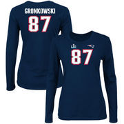 Rob Gronkowski New England Patriots NFL Pro Line by Fanatics Branded Women's Super Bowl LII Bound Fair Catch Patch Name & Number