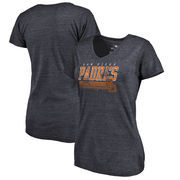 San Diego Padres Fanatics Branded Womens Cooperstown Collection Fast Pass Tri-Blend V-Neck T-Shirt - Navy