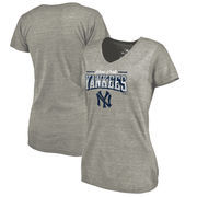 New York Yankees Fanatics Branded Women's Cooperstown Collection Season Ticket Tri-Blend V-Neck T-Shirt - Heathered Gray