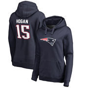 Chris Hogan New England Patriots NFL Pro Line by Fanatics Branded Women's Player Icon Name & Number Pullover Hoodie – Navy