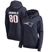 Danny Amendola New England Patriots NFL Pro Line by Fanatics Branded Women's Player Icon Name & Number Pullover Hoodie – Navy