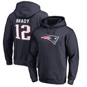 Tom Brady New England Patriots NFL Pro Line by Fanatics Branded Name & Number Player Icon Pullover Hoodie – Navy