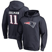 Julian Edelman New England Patriots NFL Pro Line by Fanatics Branded Player Icon Name & Number Pullover Hoodie – Navy
