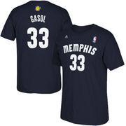 Marc Gasol Memphis Grizzlies adidas Net Number T-Shirt - Navy Blue