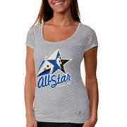 adidas 2012 NBA All-Star Game Women's Arched Star Burnout T-Shirt - White