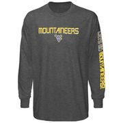 Majestic West Virginia Mountaineers Classic Victory Long Sleeve T-Shirt - Charcoal