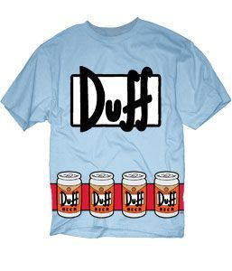The Simpsons Duffman Costume Beer Belt
