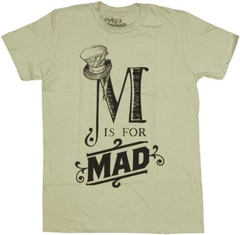 Alice in Wonderland M is for Mad