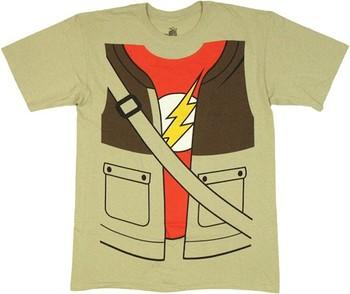 Big Bang Theory Sheldon Cooper Jacket Over Flash Costume