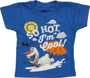 Disney Frozen Olaf So Hot I'm Cool