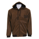 Sessions Maverick Softshell Hoodie Brown Leather