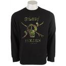 Holden Camo Snow Skull Crew Sweatshirt Black