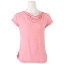 White Sierra Pin Stripe Cowl Neck T-Shirt
