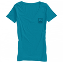 Burton Logo Vertical Fill Recycled Vneck T-Shirt