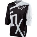 Fox Covert 3/4 Bike Jersey Black/White