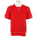 Burton Decade Short Sleeve Pullover Sweatshirt Cardinal