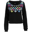 Neff Aztec Crop Pullover Sweatshirt