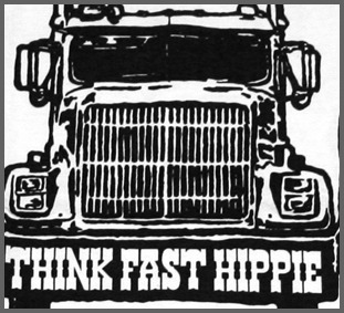 Ames Bros Think Fast Hippie Vintage
