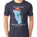 Rainbow Dash is not impressed Unisex T-Shirt