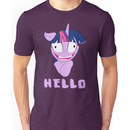 My Little Pony Twilight Sparkle Says Hello Unisex T-Shirt