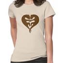 Otters Holding Hands (Heart) Women's T-Shirt