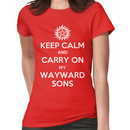 Supernatural - Keep Calm And Carry On My Wayward Sons Women's T-Shirt