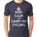 Keep Calm And Carry On Cycling Unisex T-Shirt