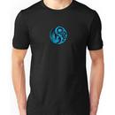 Blue and Black Dragon Phoenix Yin Yang Unisex T-Shirt