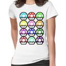 Multi-coloured Mushrooms Women's T-Shirt