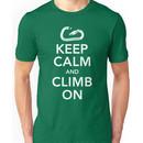 Keep Calm & Climb On Unisex T-Shirt