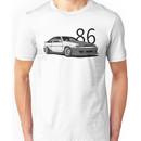 AE86 w/ lettering Unisex T-Shirt