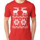 Moose Pattern Christmas Sweater Unisex T-Shirt