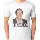 Nicolas Cage - HELLO Sticker Unisex T-Shirt