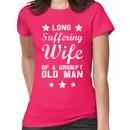Long Suffering Wife of a Grumpy old man Women's T-Shirt