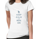 Keep Calm and Ride On Horseback Riding Women's T-Shirt
