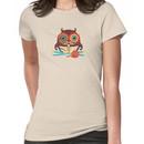 knitting needles owl paisley mustache steampunk skeleton Women's T-Shirt