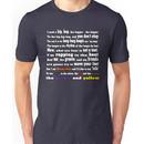 Rapper's Delight - lyrics Unisex T-Shirt