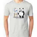 Pandas paint colorful pictures. Unisex T-Shirt