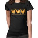 The Chickening - Orange on Black Women's T-Shirt