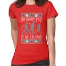 Fun To Run Ugly Christmas Tee Women's T-Shirt