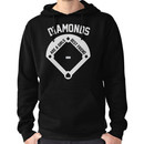 DIAMONDS ARE A GIRLS BEST FRIEND (VINTAGE BASEBALL) Hoodie (Pullover)