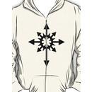 Warhammer 40k Chaos Black Legion Symbol Hoodie (Zipper)