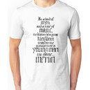 In a Land of Myth... Merlin (black) Unisex T-Shirt
