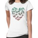 Bat Heart; blue/pink ombre Women's T-Shirt