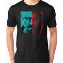 HEISENBERG VS DEXTER Walter White Breaking Bad and Dexter Face Mash Up Unisex T-Shirt