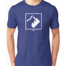 Record Label 4 (white) Unisex T-Shirt